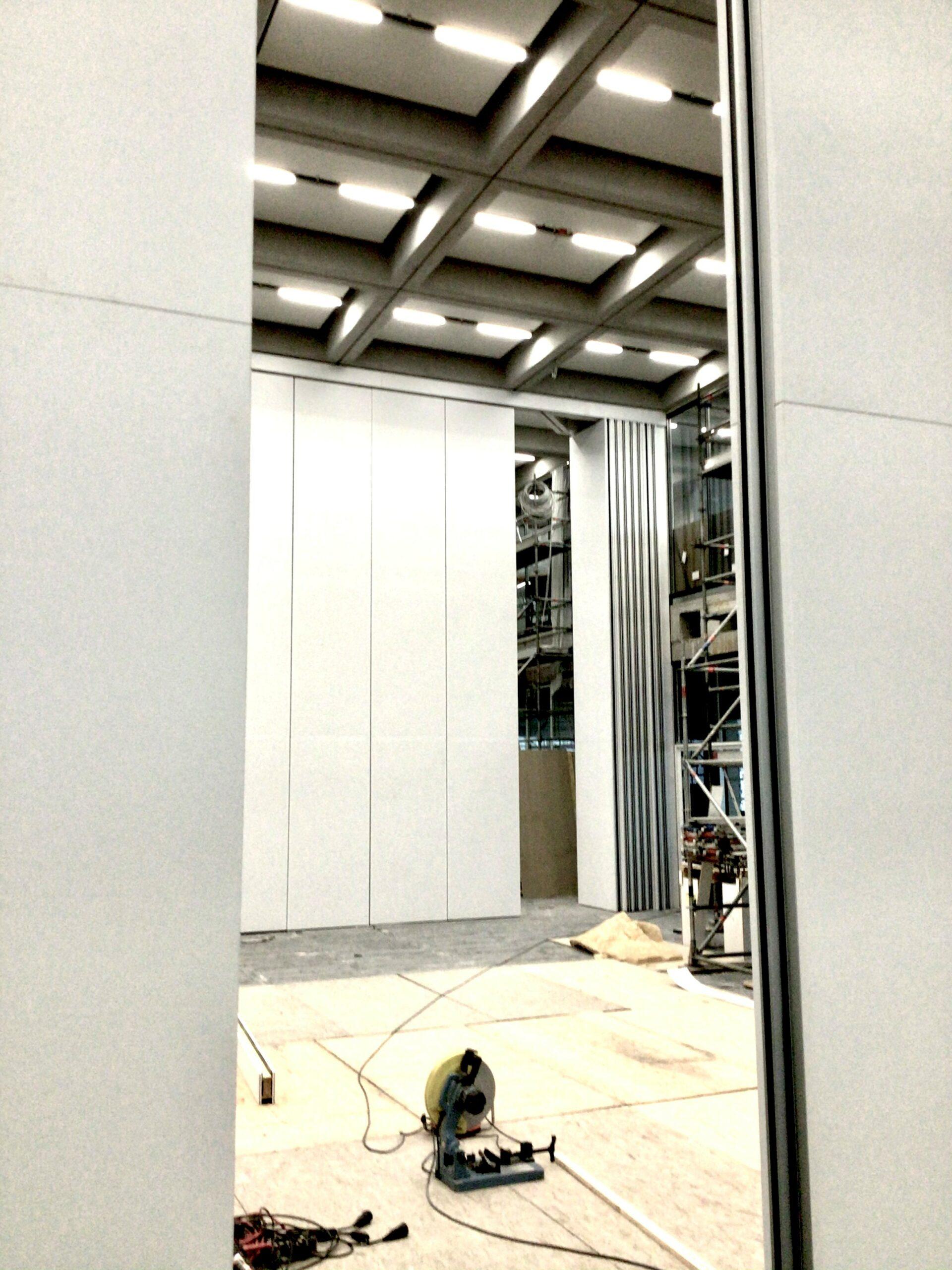 Mobile Wände in der Fertigstellung
