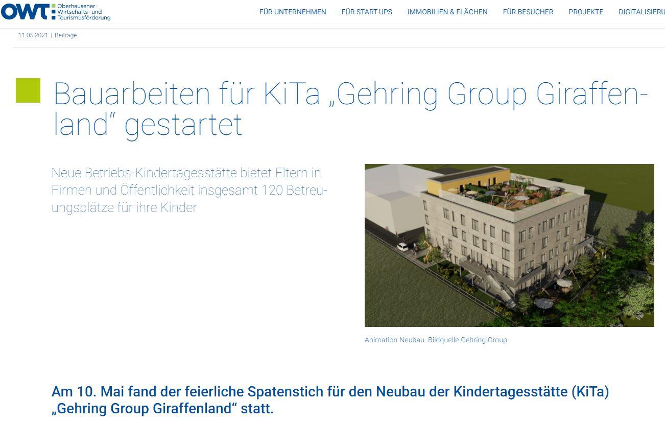 Neues Projekt – KiTa Giraffenland